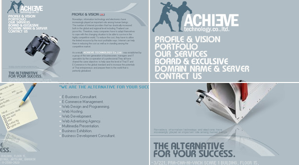 ACHIEVE TECHNOLOGY Co.,Ltd. | Webdesign ��§���� �͡Ẻ���䫵�